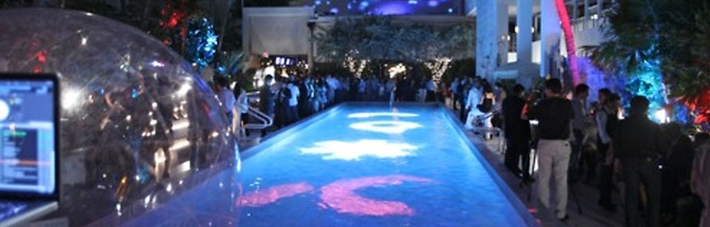 """SOHO Beach House Gets GLITZed """"4D"""" Video Projection Mapping comes to Miami for the first time"""